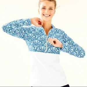 NWT Lilly Pulitzer ASHER Popover Whisper Blue S